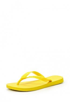 Сланцы Havaianas. Цвет: желтый