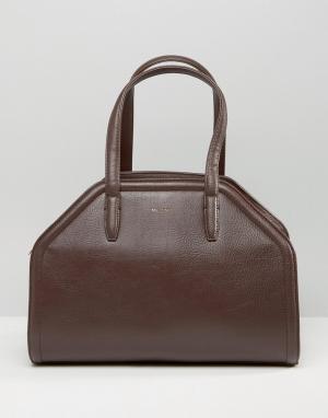 Matt & nat Структурированная сумка-тоут. Цвет: коричневый