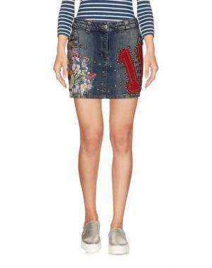 Джинсовая юбка GAETANO NAVARRA. Цвет: синий