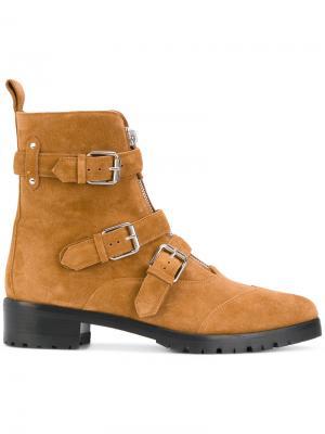 Ботинки с декоративными ремешками Tabitha Simmons. Цвет: коричневый