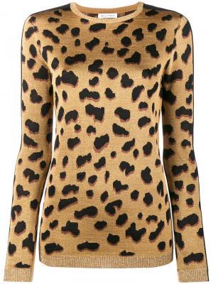 Джемпер с леопардовым принтом Iggy Bella Freud. Цвет: металлический