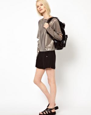 Черные шорты-боксеры BACK by Ann‑Sofie Ann Sofie. Цвет: черный