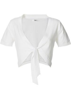 Болеро из тонкого вязаного полотна (белый) bonprix. Цвет: белый