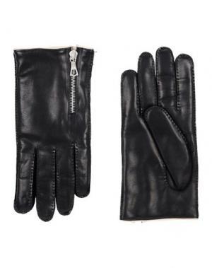 Перчатки DRIES VAN NOTEN. Цвет: черный