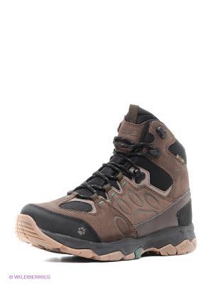 Ботинки MTN ATTACK 5 TEXAPORE MID M Jack Wolfskin. Цвет: коричневый