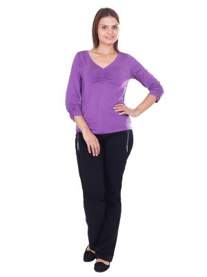Блуза LAFEI-NIER. Цвет: темно-фиолетовый