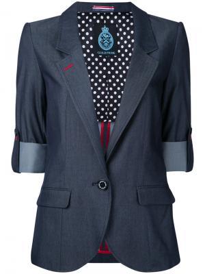 Пиджак с подвернутыми манжетами Guild Prime. Цвет: синий