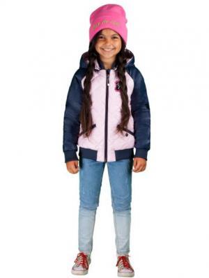 Куртка BOOM. Цвет: темно-синий,бледно-розовый