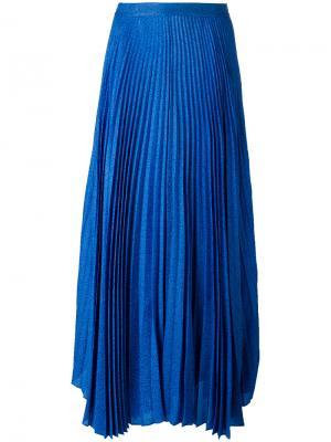 Длинная плиссированная юбка Alice+Olivia. Цвет: синий