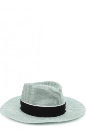 Шляпа Charles с лентой Maison Michel. Цвет: светло-зеленый