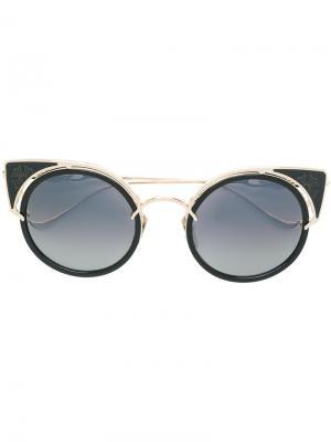 Cat-eye frame sunglasses Chrome Hearts. Цвет: чёрный