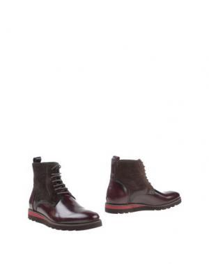 Полусапоги и высокие ботинки 1° GENITO. Цвет: красно-коричневый