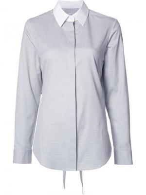 Рубашка Dot Pique Tie Back Tome. Цвет: белый