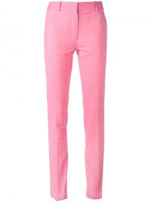 Прямые брюки Victoria Beckham. Цвет: розовый и фиолетовый