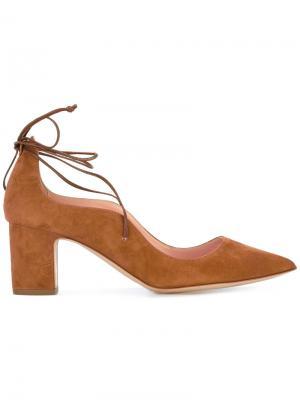 Туфли-лодочки на шнуровке Rupert Sanderson. Цвет: коричневый