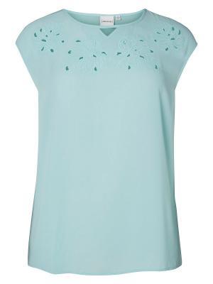 Блузка JUNAROSE. Цвет: голубой