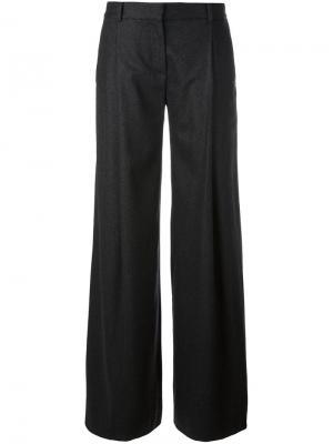 Плиссированные брюки палаццо Dvf Diane Von Furstenberg. Цвет: серый