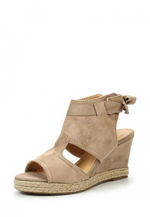 Босоножки WS Shoes. Цвет: бежевый