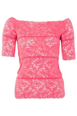 Легкая кружевная блуза D.Exterior. Цвет: красный