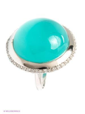 Кольцо Art Silver. Цвет: серебристый, бирюзовый