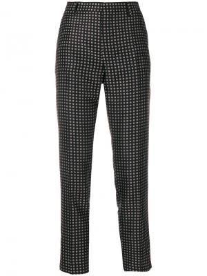 Узкие брюки с узором Essentiel Antwerp. Цвет: чёрный