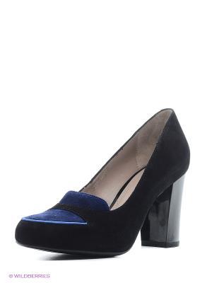 Туфли EL ROSSO. Цвет: черный, синий