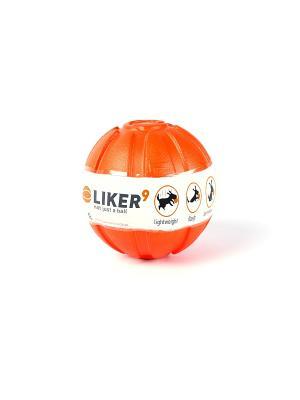 Мячик ЛАЙКЕР 9см LIKER. Цвет: оранжевый