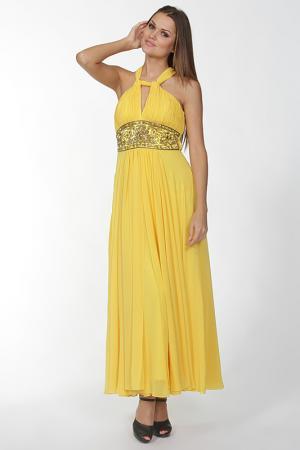 Платье Mona Kalin. Цвет: желтый