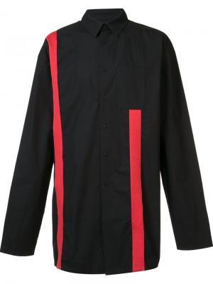 Рубашка с контрастными полосками D.Gnak. Цвет: чёрный