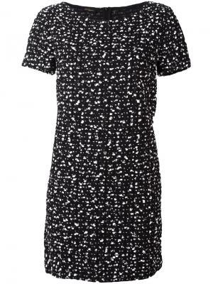 Пестрое платье Les Copains. Цвет: чёрный