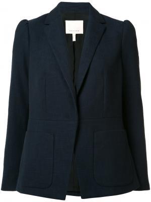 Блейзер с накладными карманами Rebecca Taylor. Цвет: синий