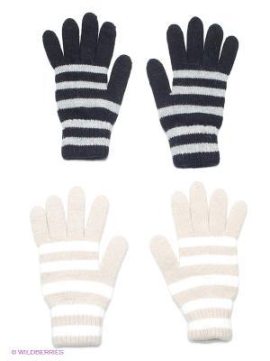Перчатки, 2 пары FOMAS. Цвет: черный, серый меланж, бежевый, молочный