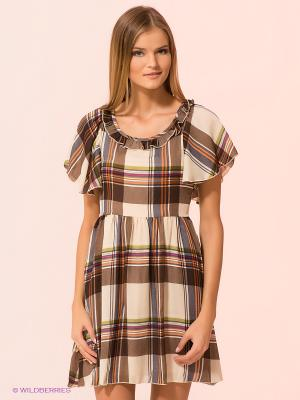 Платье Kling. Цвет: светло-бежевый, оранжевый, коричневый