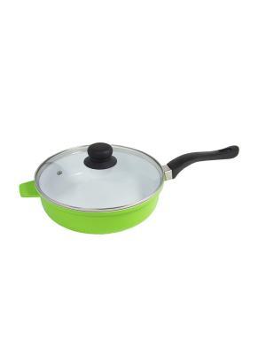 Сковорода с керамическим покрытием BH 6524 BOHMANN. Цвет: зеленый