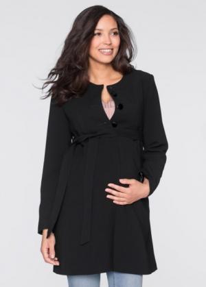 Мода для беременных: полупальто (черный) bonprix. Цвет: черный