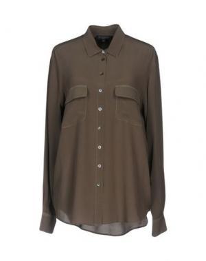 Pубашка ANTONELLI. Цвет: зеленый-милитари