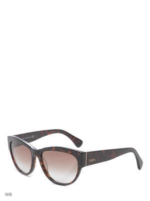 Солнцезащитные очки TO 0059 52F Tod's. Цвет: коричневый
