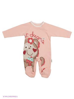 Комбинезон для малышей WO&GO. Цвет: персиковый