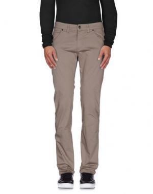 Повседневные брюки HEAVEN TWO. Цвет: голубиный серый