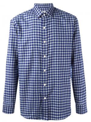 Рубашка Close Salvatore Piccolo. Цвет: синий