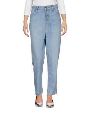 Джинсовые брюки THE GREAT.. Цвет: синий