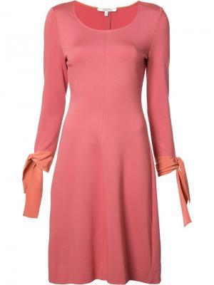 Платье с завязками на рукавах Dorothee Schumacher. Цвет: розовый и фиолетовый