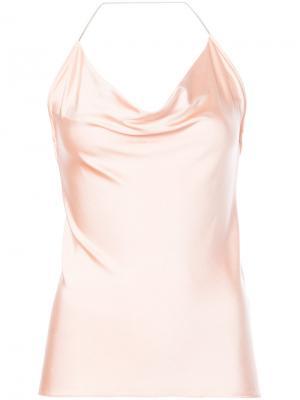Топ с цепочкой вокруг шеи Cushnie Et Ochs. Цвет: розовый и фиолетовый