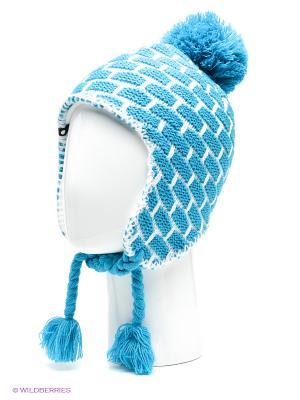 Шапка Icepeak. Цвет: голубой, белый