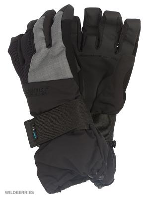 Перчатки Ziener. Цвет: черный, серый