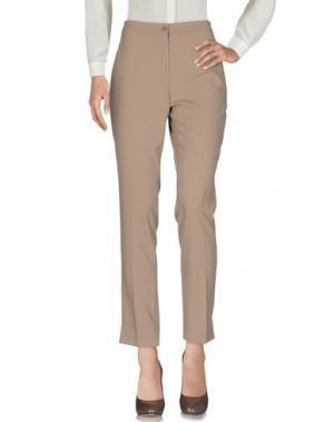 Повседневные брюки L.P. di L. PUCCI. Цвет: бежевый
