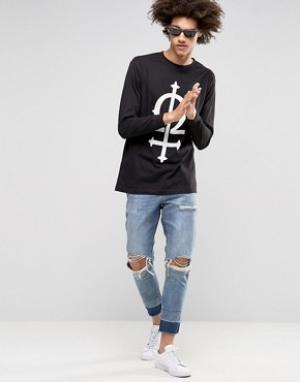 Long Clothing Лонгслив Omega. Цвет: черный