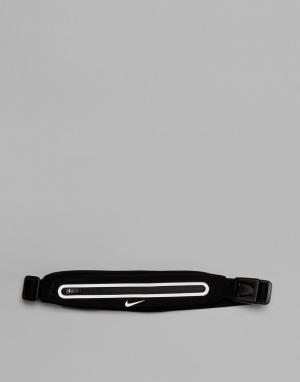Nike Черная сумка-кошелек на пояс Running. Цвет: черный