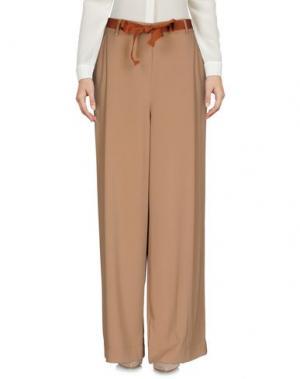 Повседневные брюки PAOLO CASALINI. Цвет: верблюжий