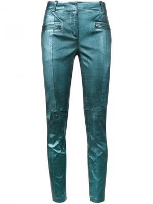 Укороченные байкерские брюки Sies Marjan. Цвет: синий